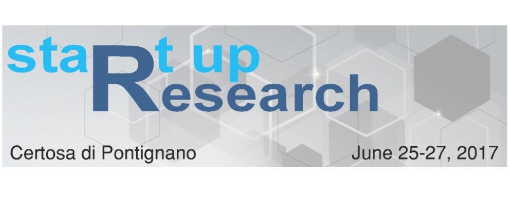 StartUp Research Workshop dal 25 al 27 Giugno 2017